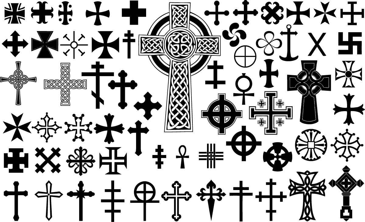 Cross silhouettes png