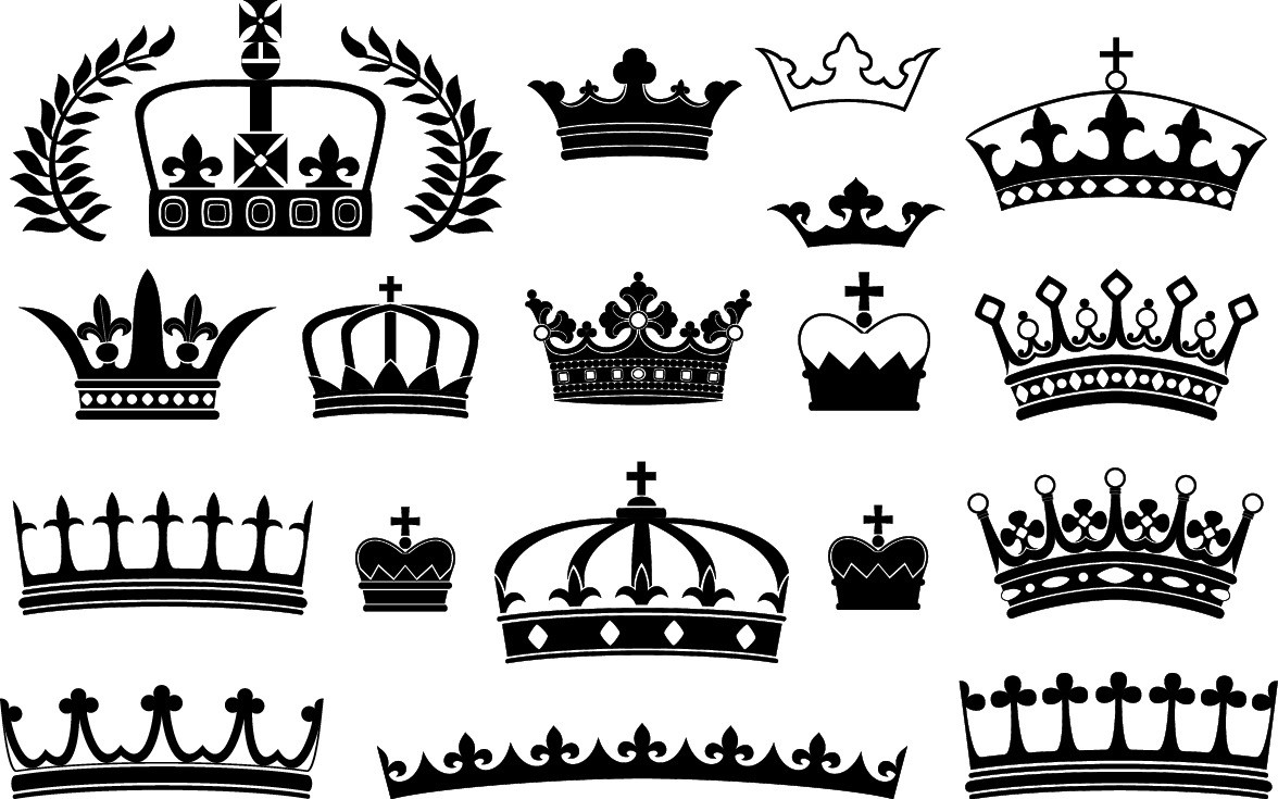 Crowns silhouette png