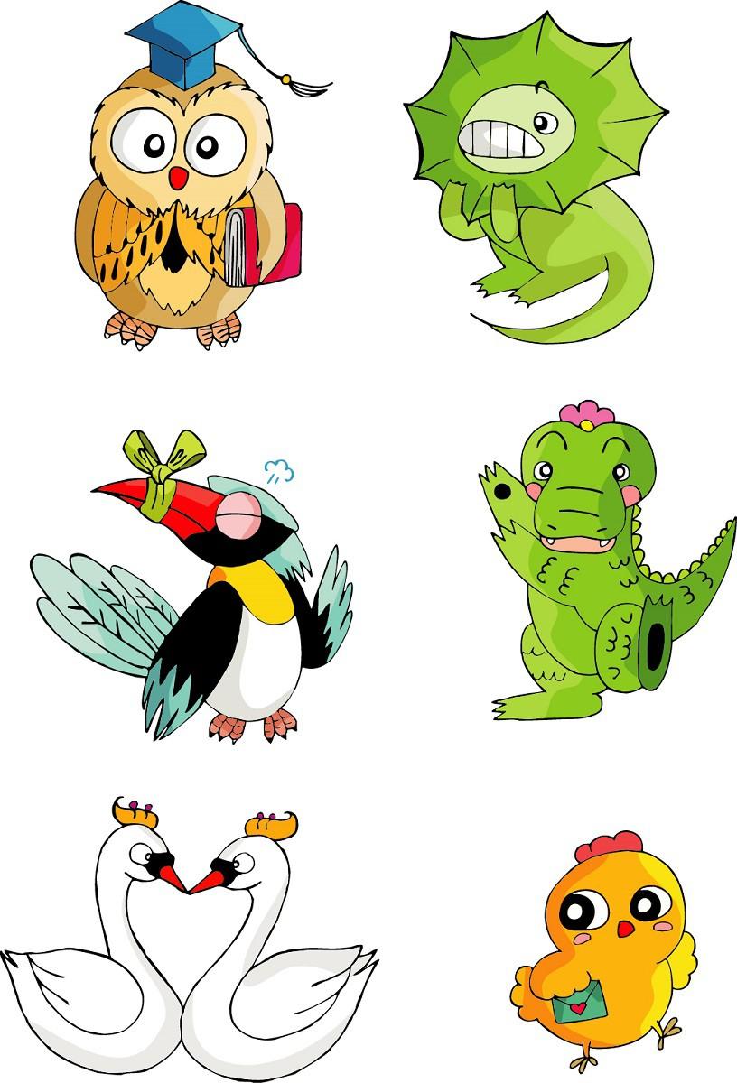 Cute cartoon animal series png