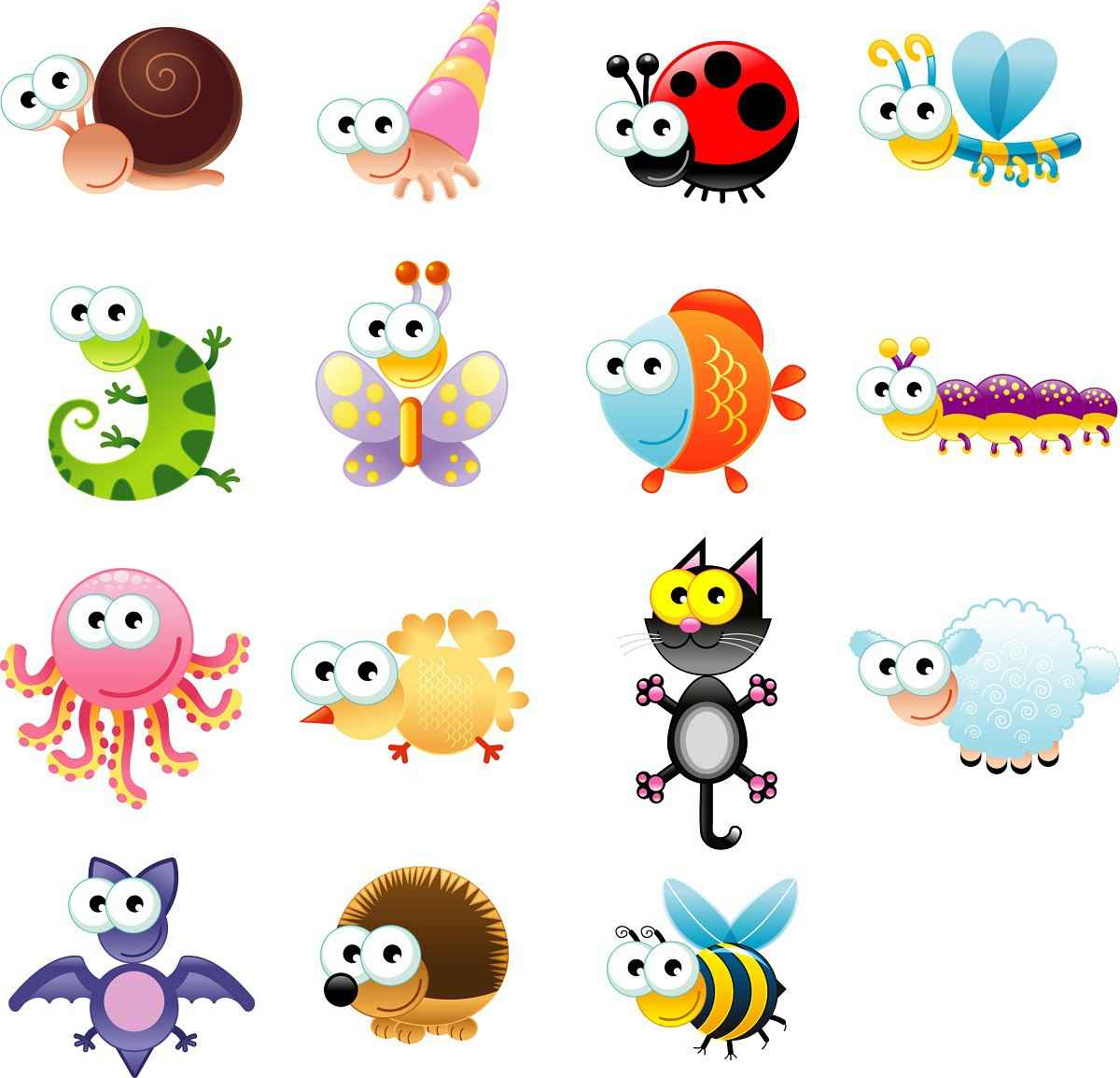 Cute Cartoon Animals 04 png