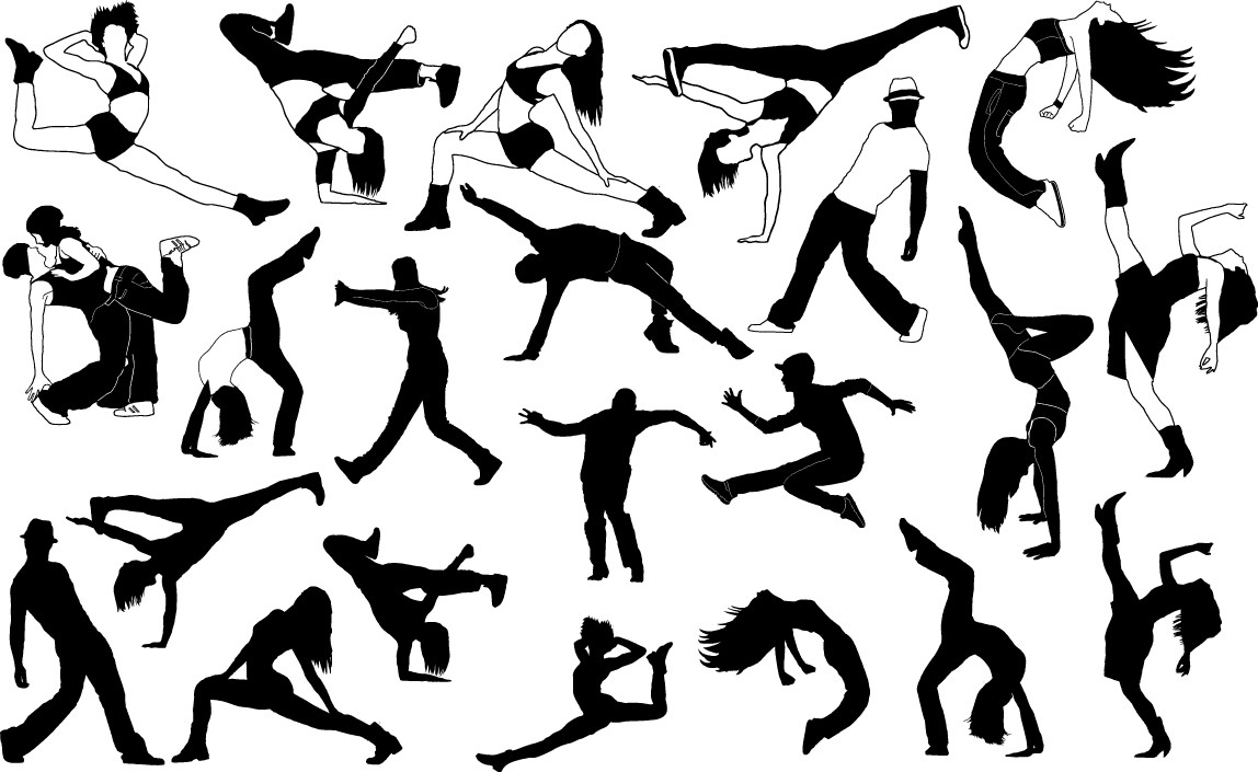 Dancers silhouette png
