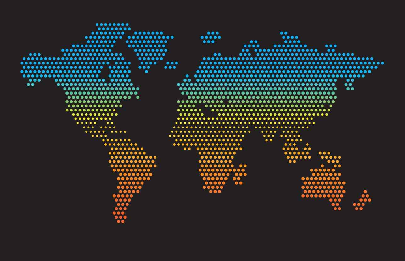Dotted map world png