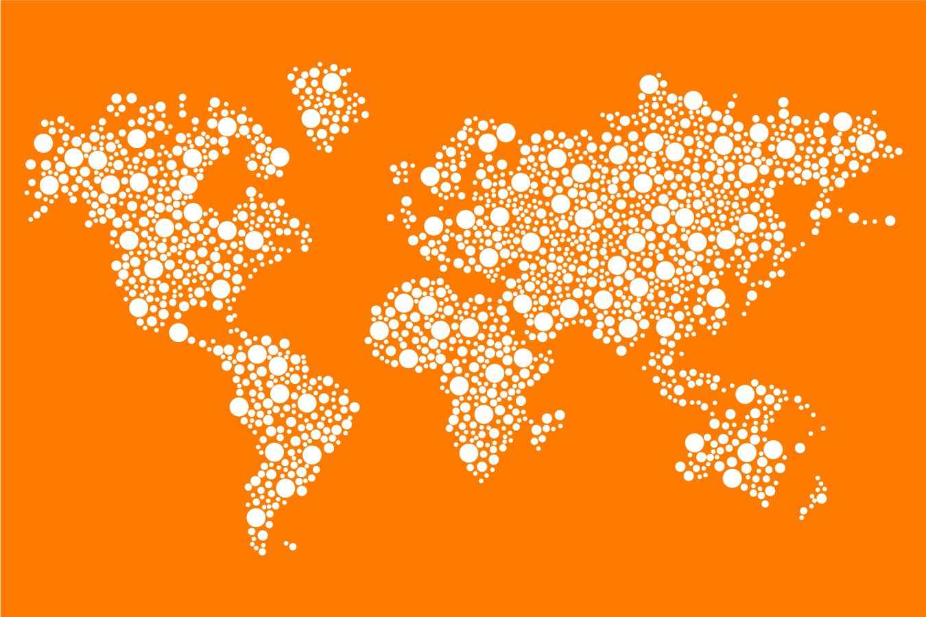 Dotted world map png