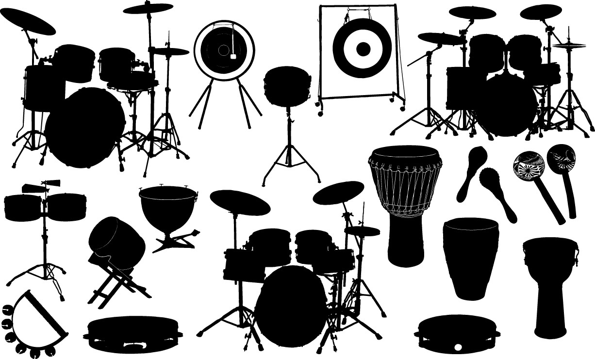 Drum silhouette png