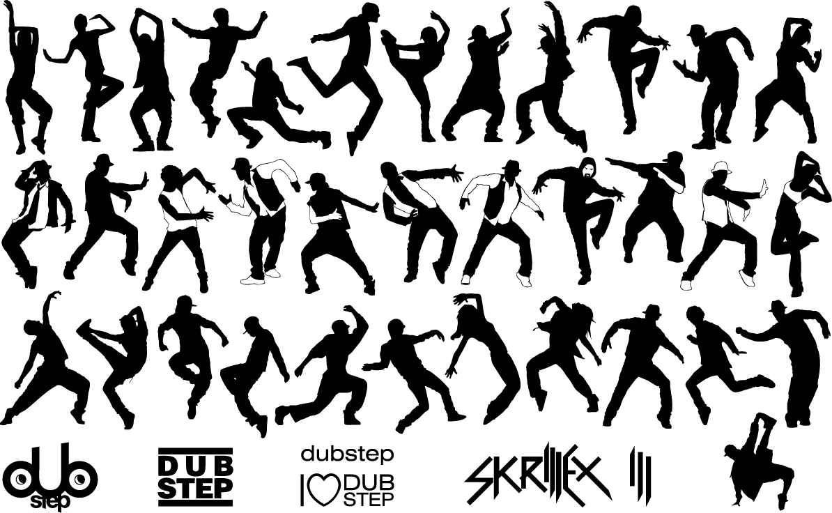Dubstep dancer silhouette png