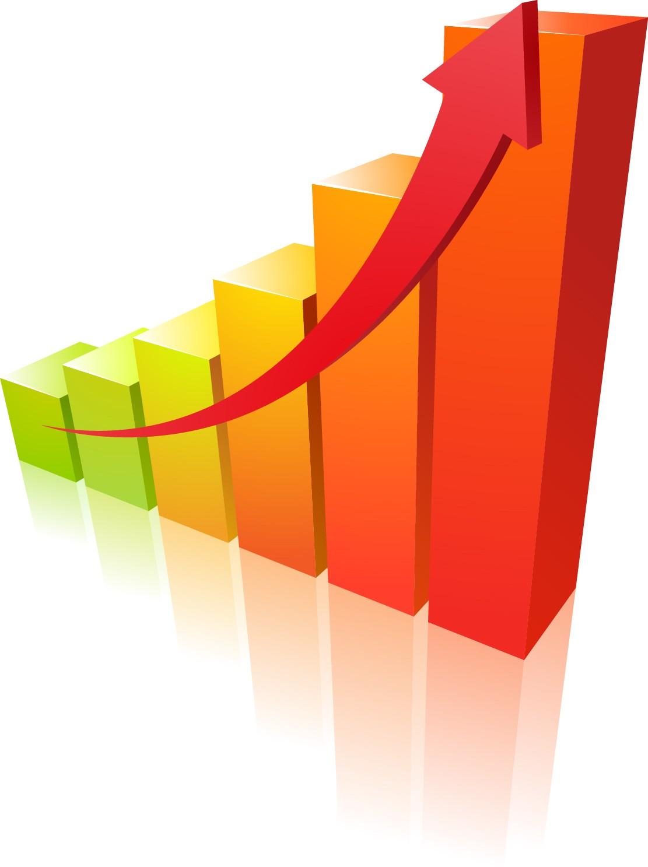 Dynamic trend arrow png