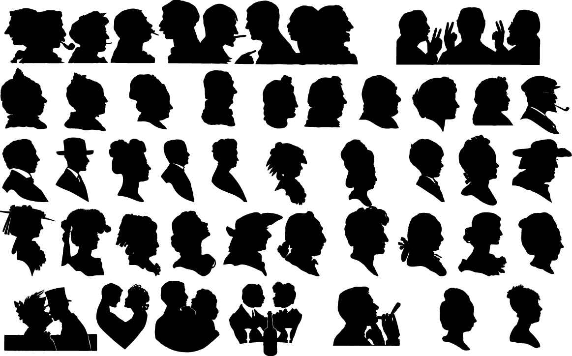 Face silhouettes png