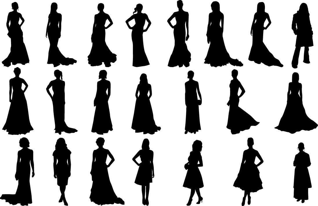 Fashion girls silhouettes png