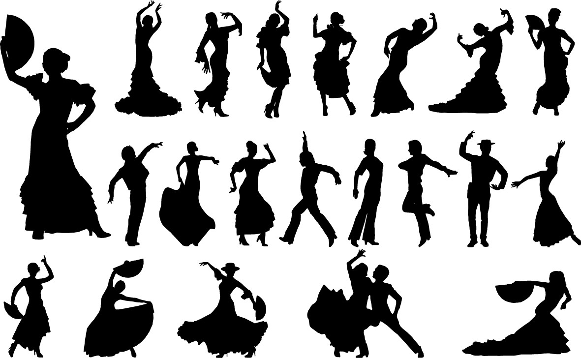 Flamenco dancers silhouette png