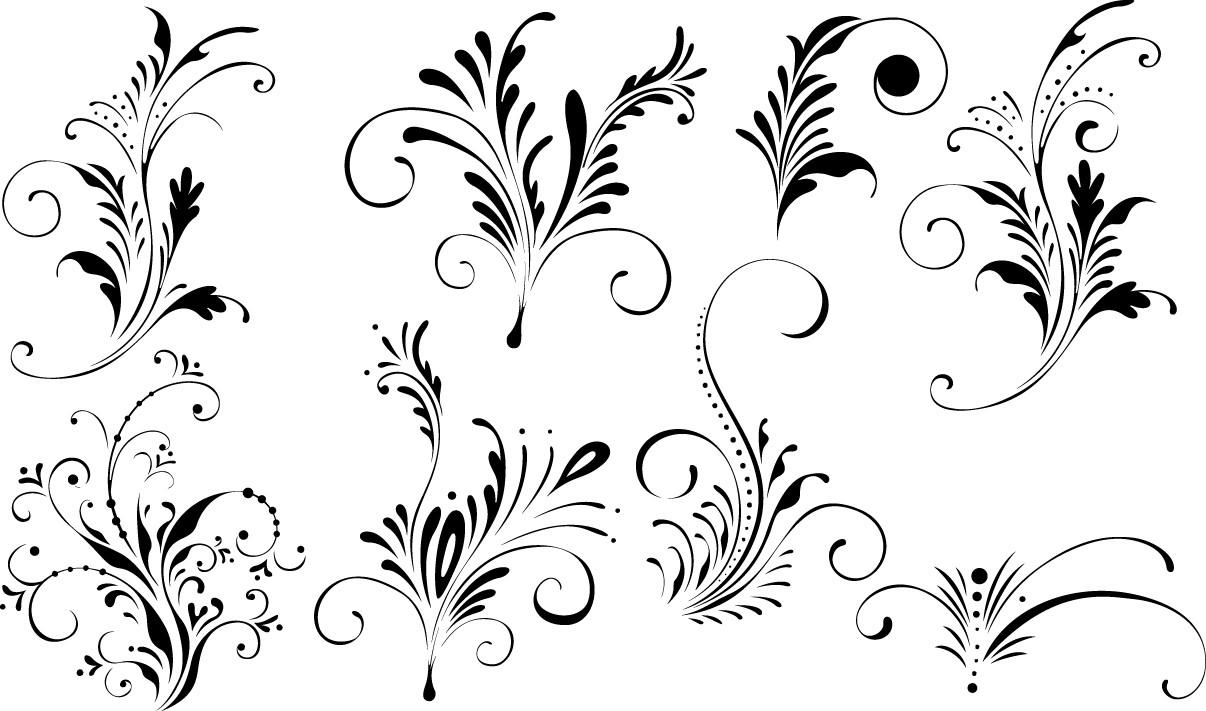 Floral elegant elements png