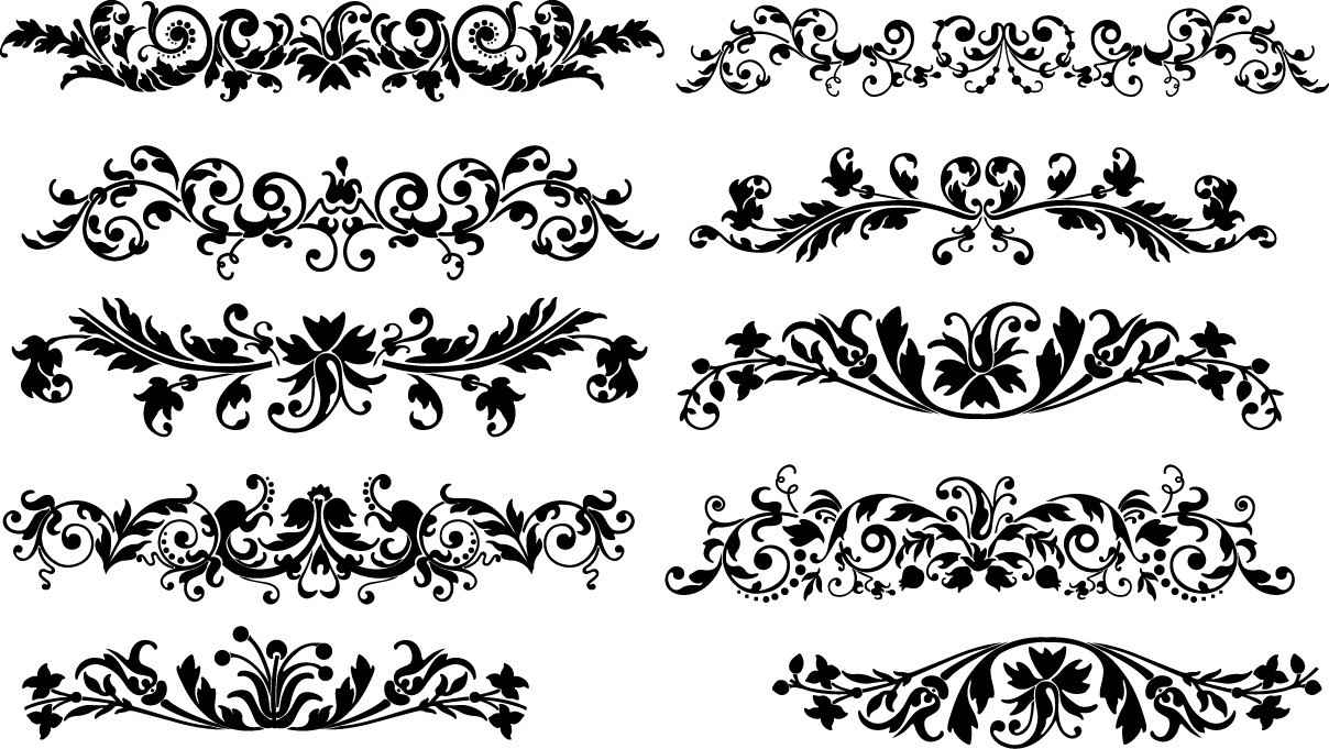 Floral horizontal decoration png