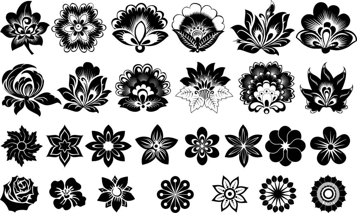 Flowers silhouette png
