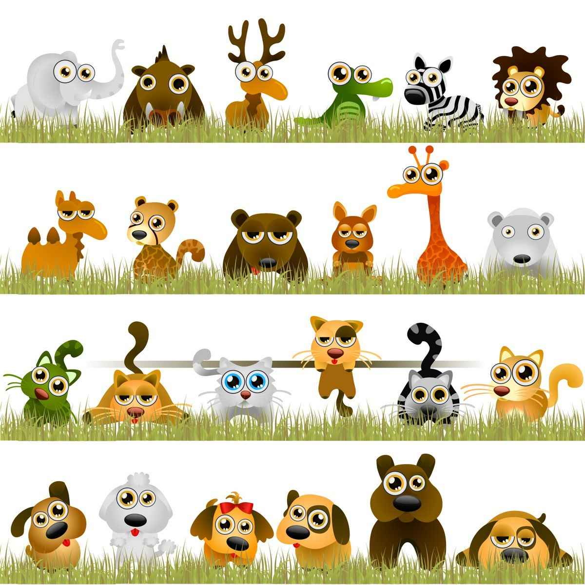 Funny little animals png