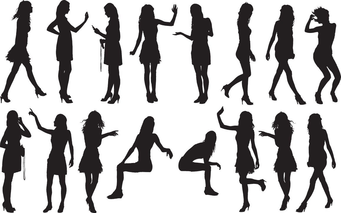Girls silhouette png