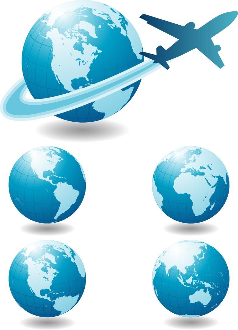 Globe airplane png