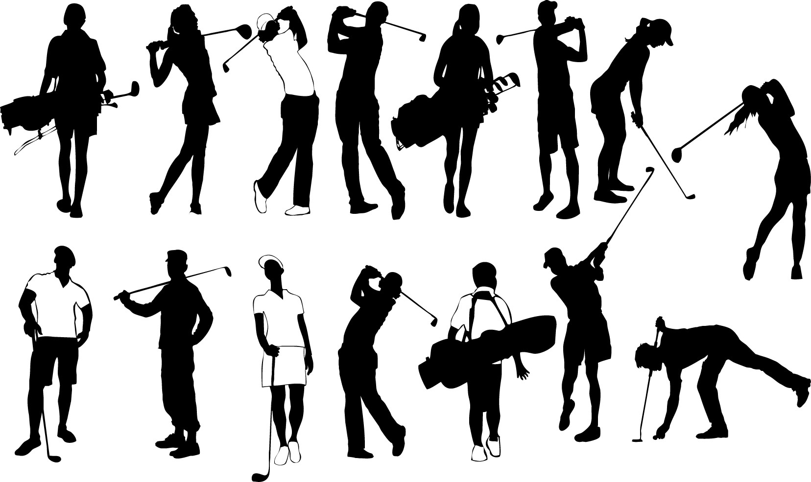 Golf player silhouette png