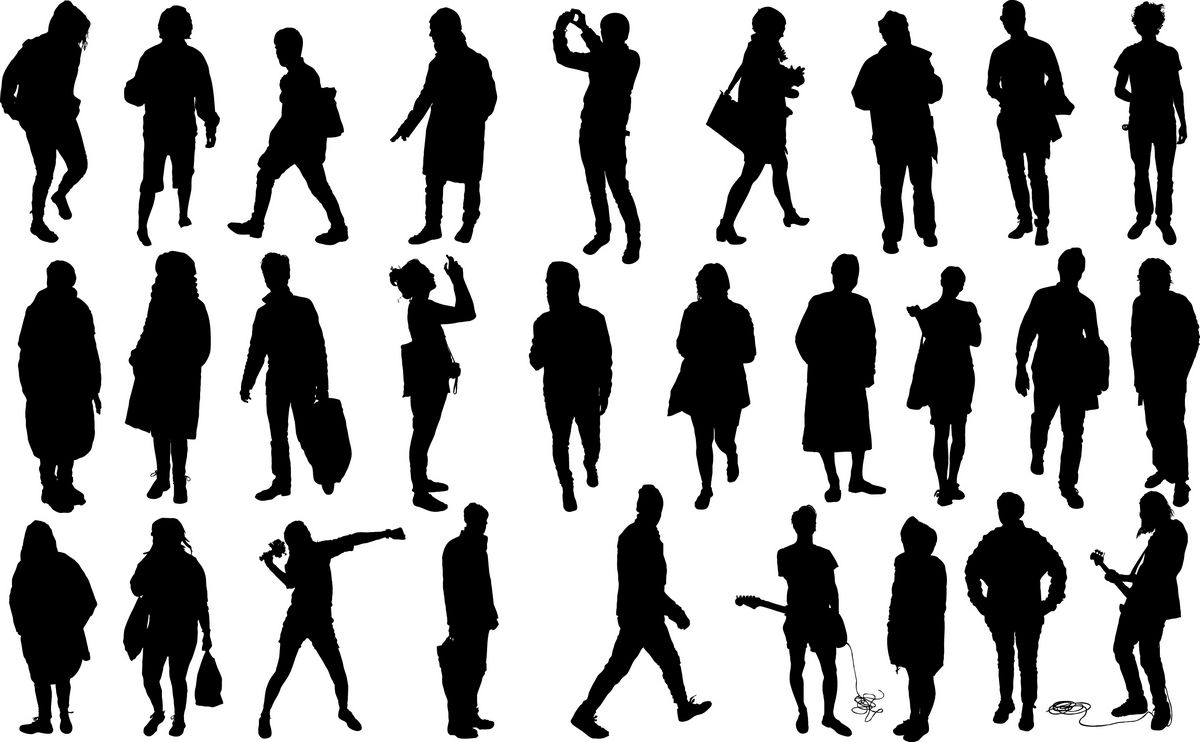 Human silhouettes png