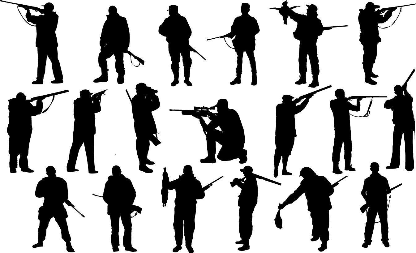 Hunter silhouettes png