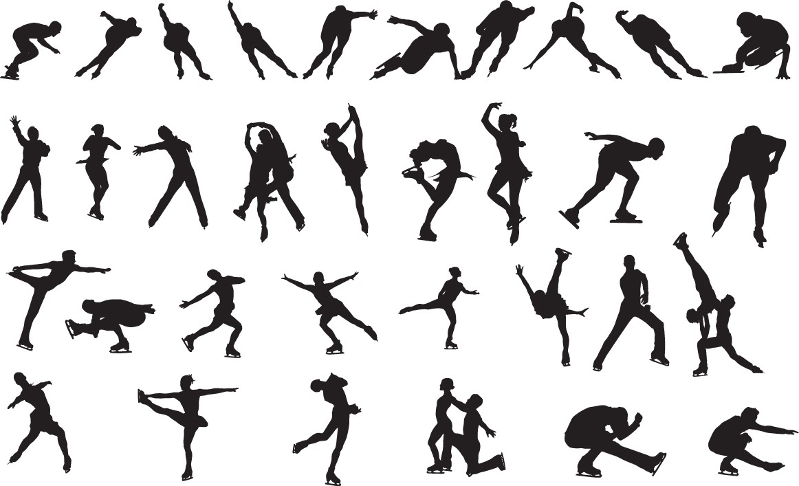 Ice skating silhouette png