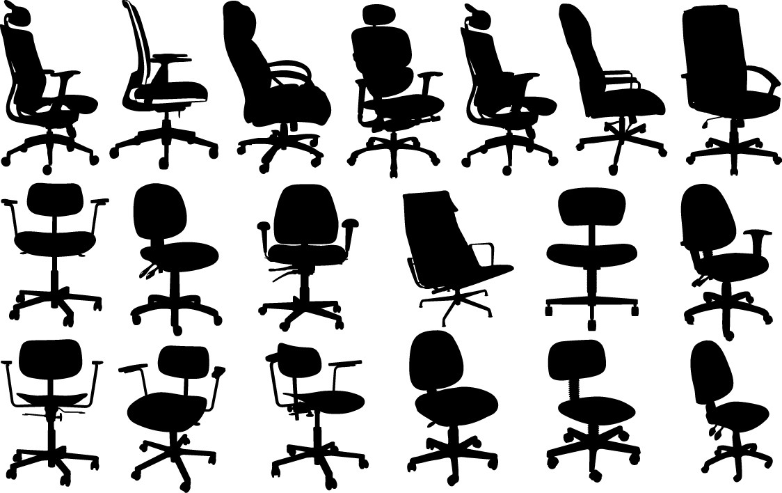 Office chair silhouettes png