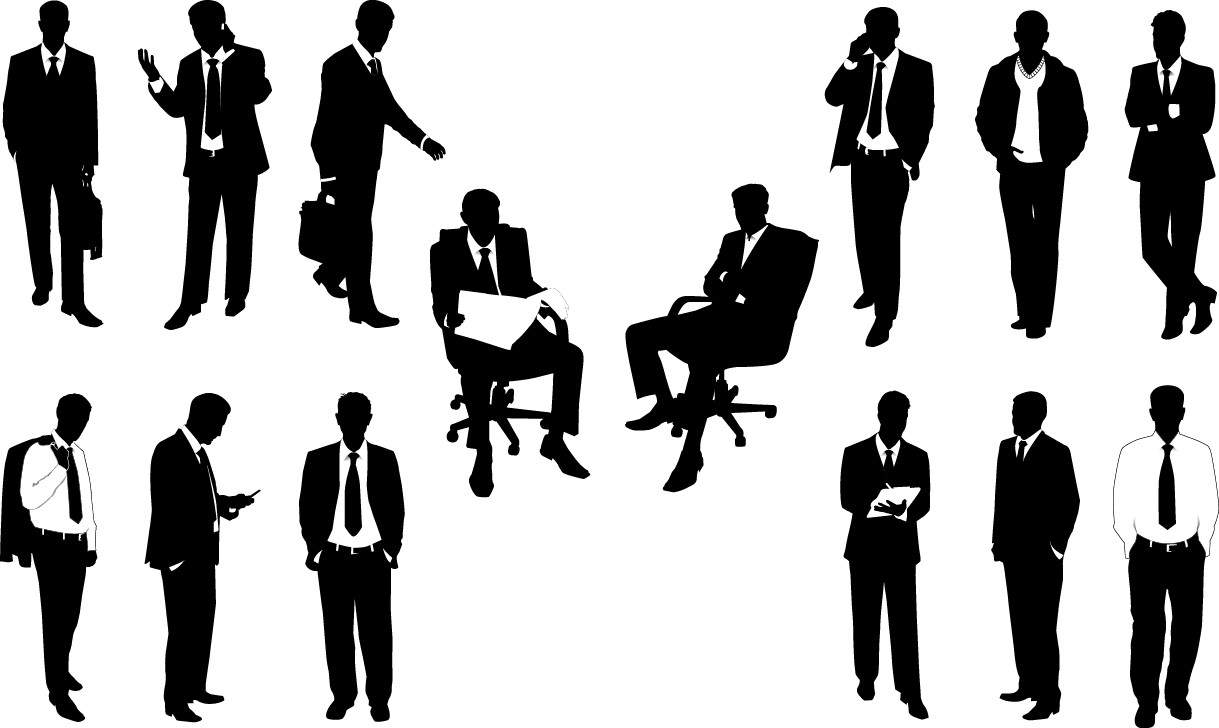 Office worker silhouettes png