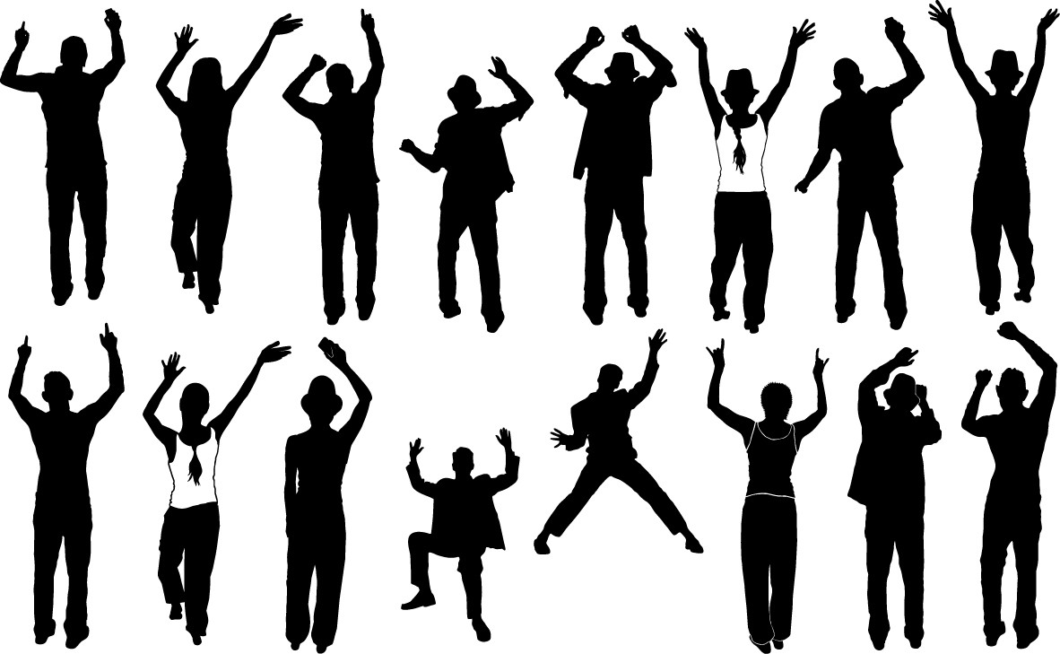 Party people silhouette png