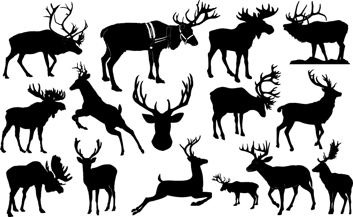 Reindeer silhouettes png