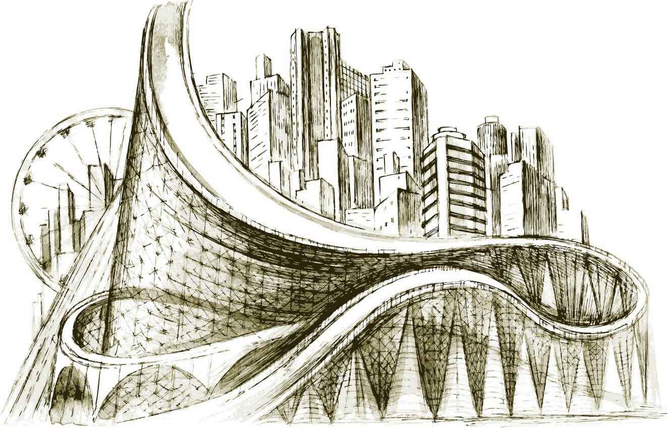 Sketch architectural png