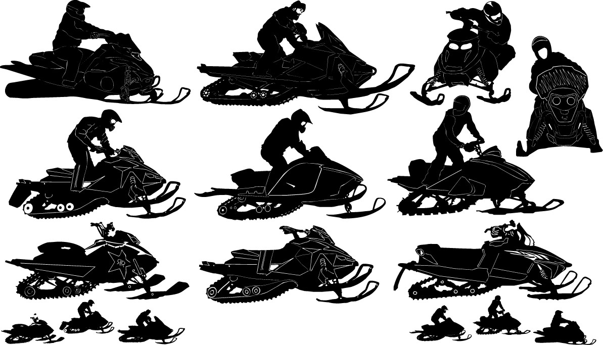 Snowmobile silhouettes png