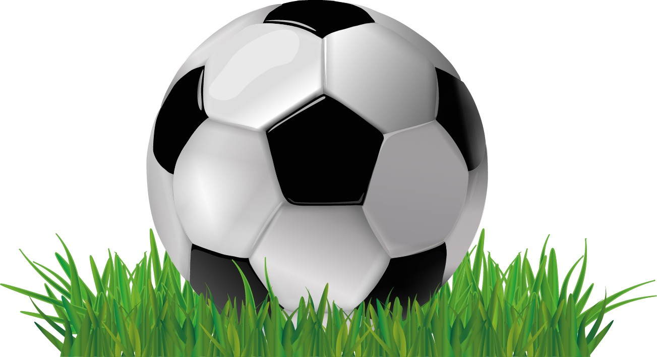 Soccer ball on grass png