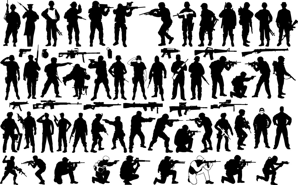 Soldier silhouettes png