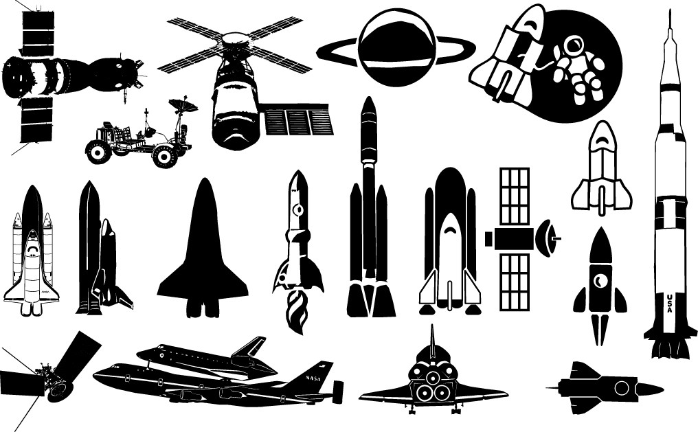 Starship Silhouettes png
