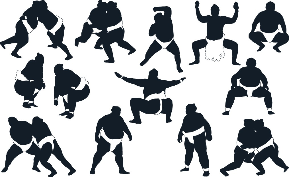 Sumo silhouettes png