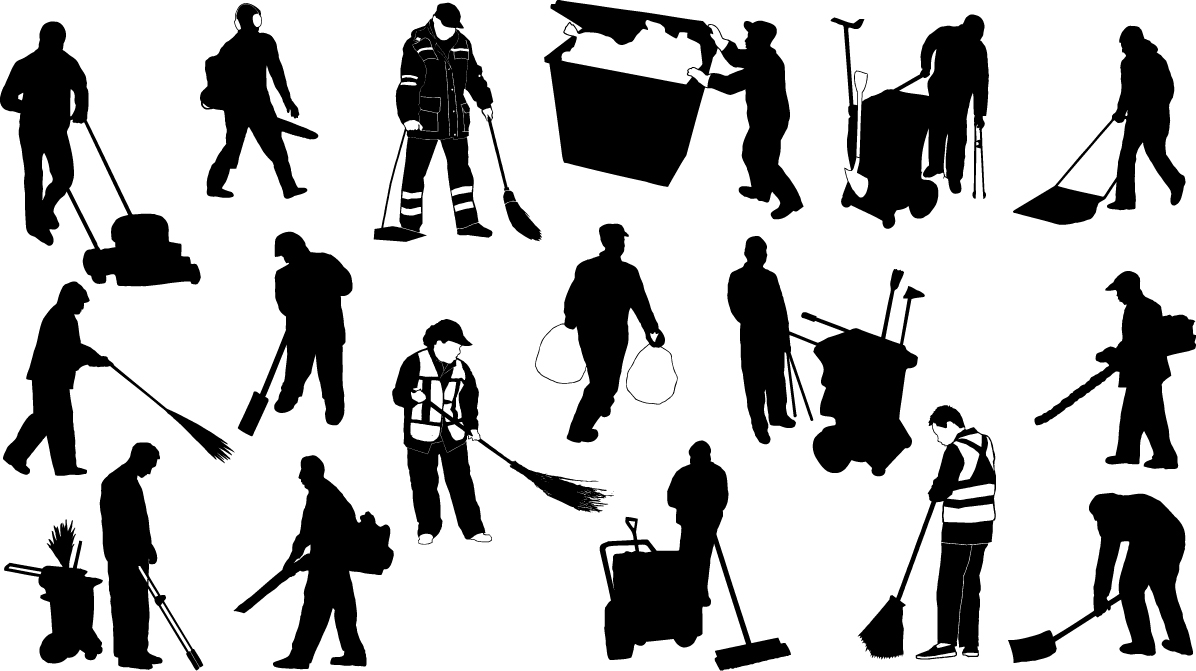 Sweeper silhouettes png