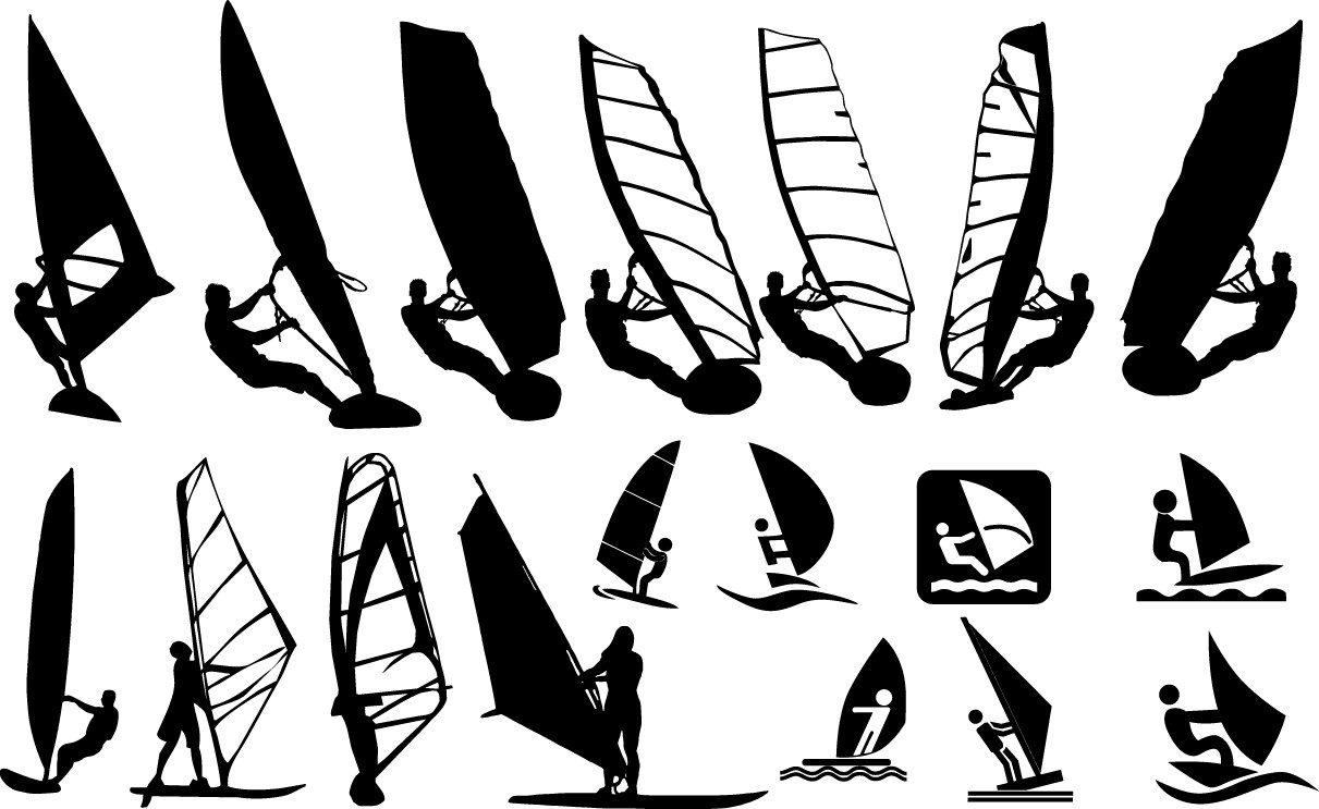 Windsurfing silhouette png