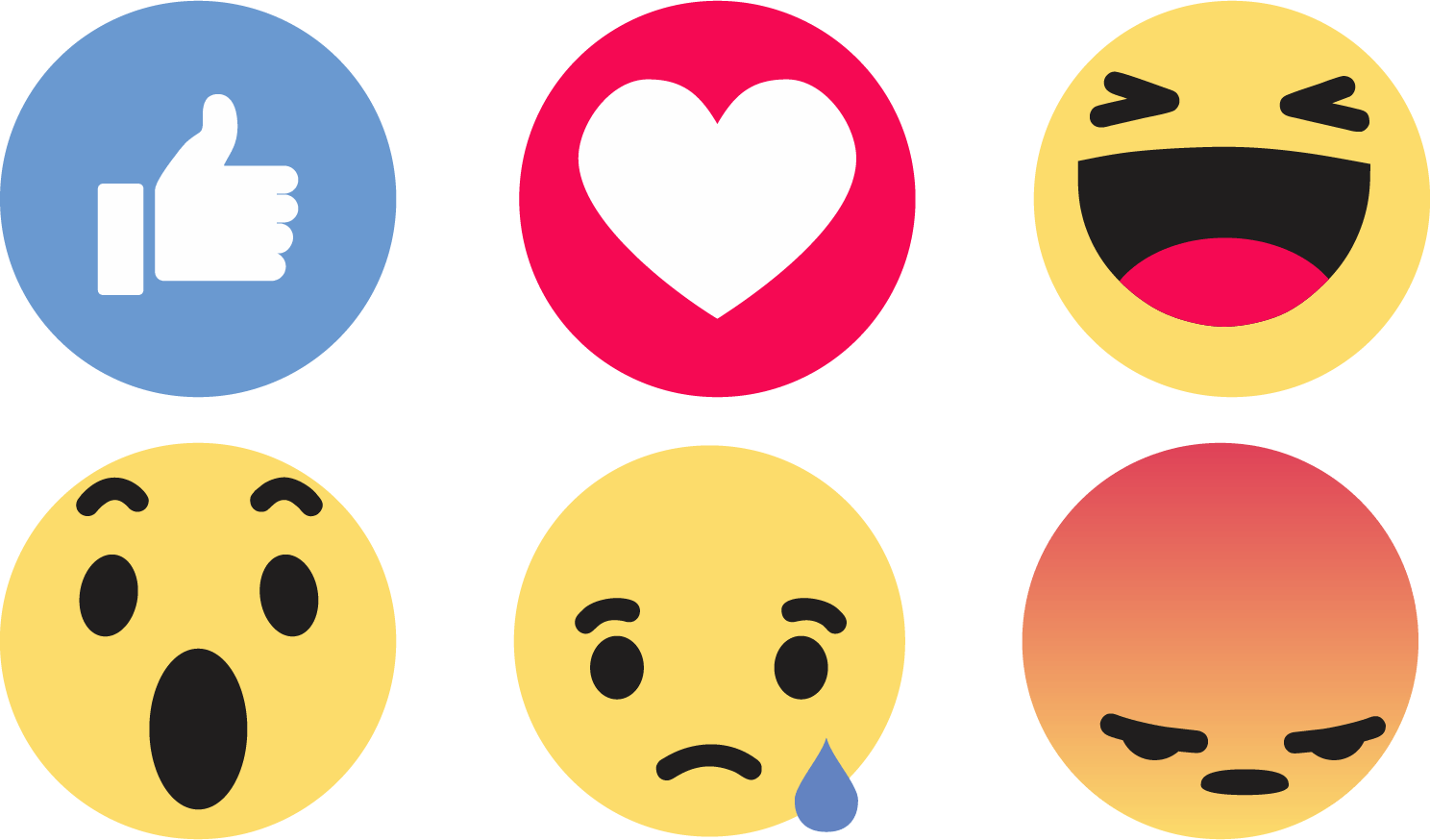 Facebook Like Reactions Icons png