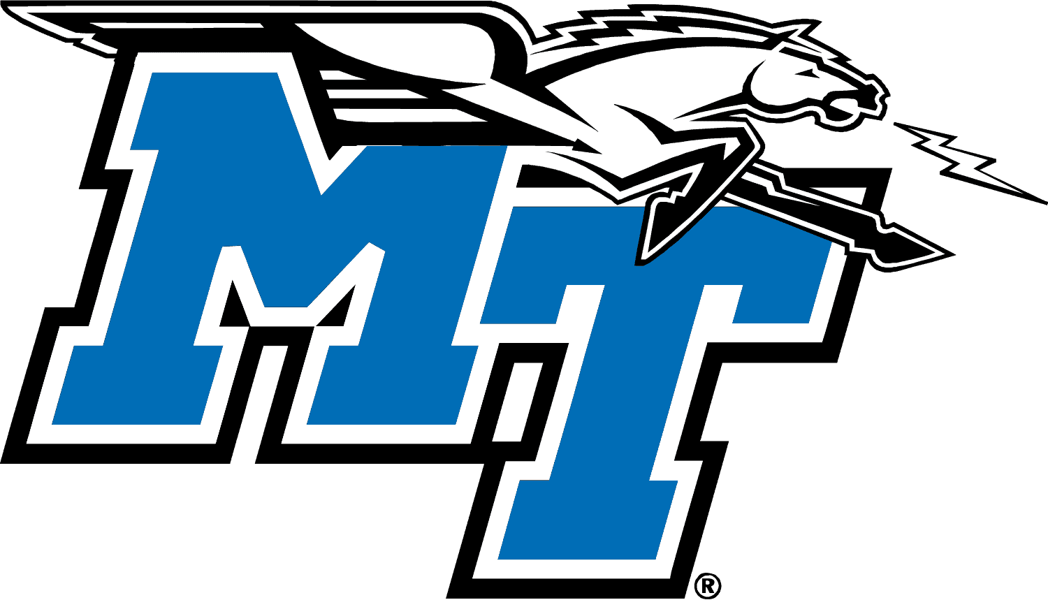 Middle Tennessee Blue Raiders Logo (MT) png