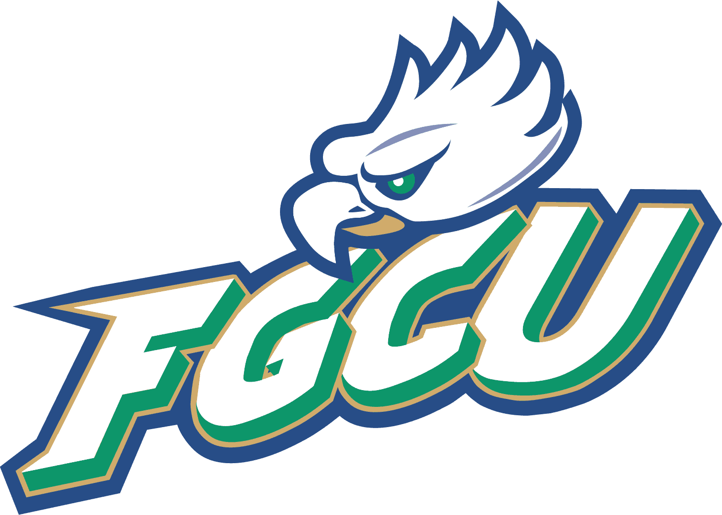 Florida Gulf Coast Eagles Logo (FGCU) png