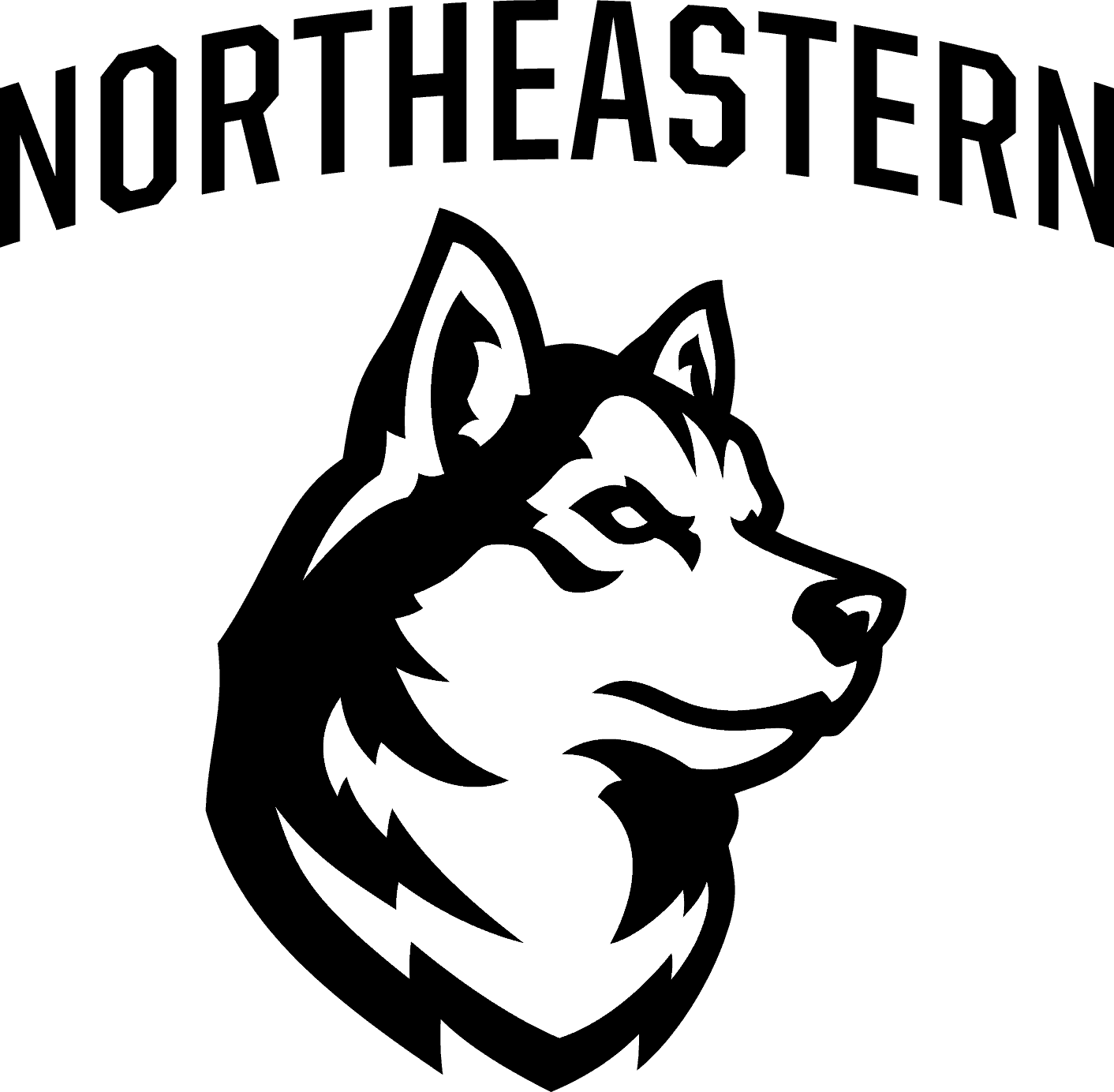 Northeastern Huskies Logo png