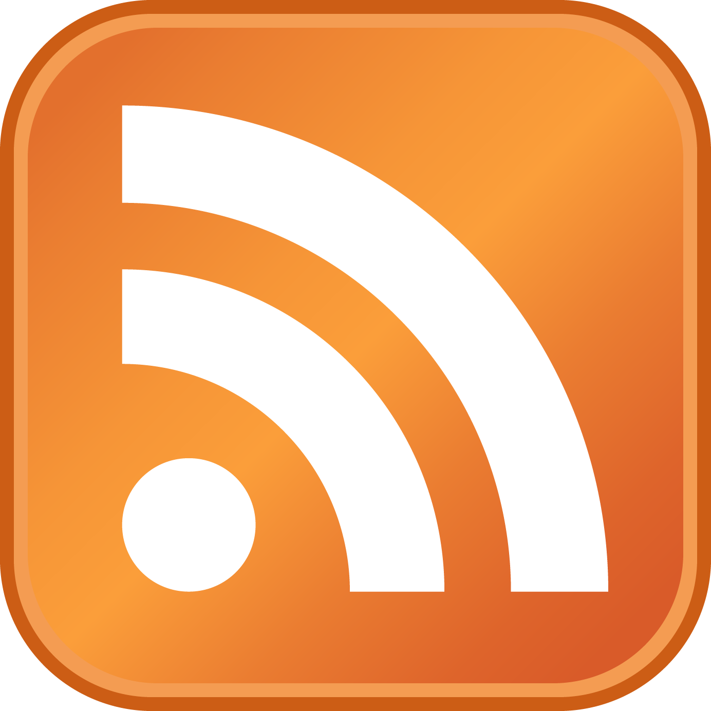 RSS Logo (Really Simple Syndication) png
